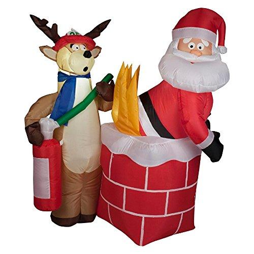 Gemmy Inflatables  Air Blown Santa on Fire Scene