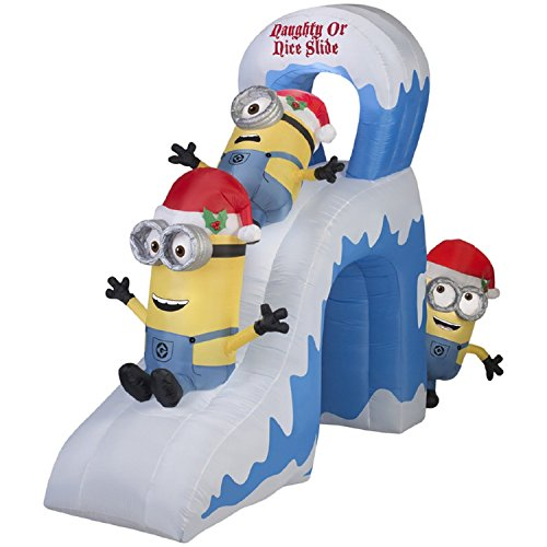 Minions Naughty or Nice Slide with Kevin, Stuart, and Bob Airblown Inflatable