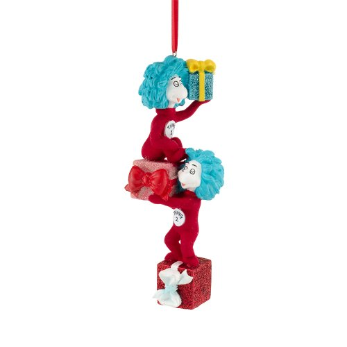 Dr. Seuss Thing 1 and 2 with Gifts Ornament